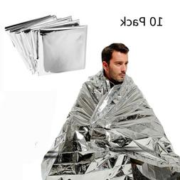10 Pack Emergency Blanket Tent Survival Safety Insulating My