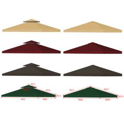 9.8' Outdoor Gazebo Top Tent Cover Pop Up Sunshade Canopy Re