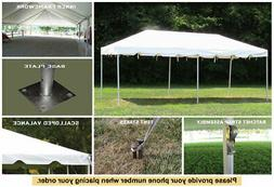 10x20 White Vinyl Classic Frame Tent for Wedding Outdoors Ev