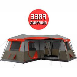 Ozark Trail 12 Person 3 Room L Shaped Instant Cabin Tent Cam
