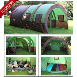 "189""x122"" 8-10 Person Family Camping Dome Tunnel Tents Water"