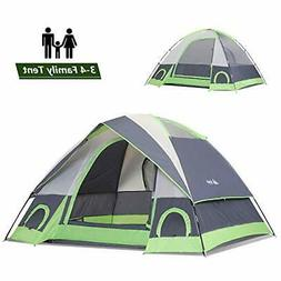 SEMOO 2-3 Person Dome Family Camping Tent, Waterproof and Co