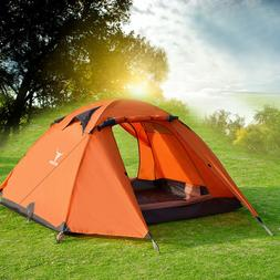 2-3 Person Double Layer Waterproof 4 Season Camping Hiking T