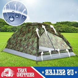 2-3 Person Outdoor Camping Waterproof 4 Season Family Tent C