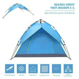 2-3 Person Waterproof Instant Pop Up Tent Family Camping Hik