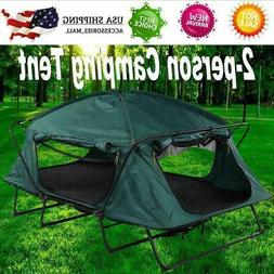 2-person Elevated Camping Tent Cot Oxford Cloth Waterproof f