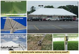 20 x 40 White Classic Pole Tent for Wedding Outdoor Event Pa