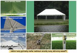 20x30 White Vinyl Classic Pole Tent for Wedding Outdoors Eve