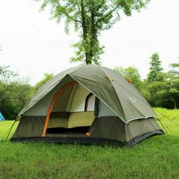 3-4 Person Camping Tent 210T Waterproof Double-layer Pop Up