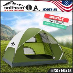 3-4 Person Waterproof Family Camping Tent Outdoor Dome Tent