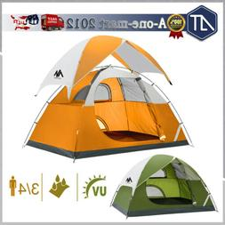 3-4 Person Waterproof Instant Camping Tent Family Backpackin