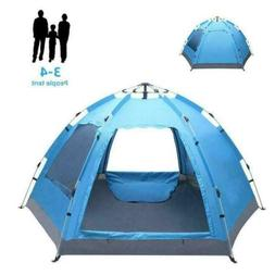3-4 Person Waterproof Outdoor Sports Pop Up Tent Camping Hik