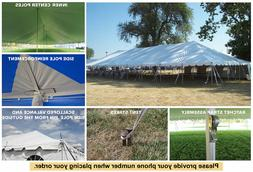 30x120 White Vinyl Classic Pole Tent for Wedding Outdoor Eve