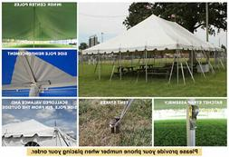 30x30 White Vinyl Classic Pole Tent for Wedding Outdoor Even