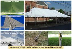 30x60 White Vinyl Classic Pole Tent for Wedding Outdoor Even