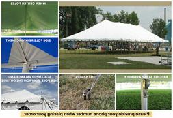 30x75 White Vinyl Classic Pole Tent for Wedding Outdoor Even