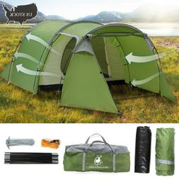 4-5 Person Camping Tent Waterproof Family Backpack Hiking Do