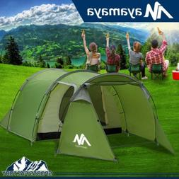 4-5 Person Family Camping Tunnel Dome Tent Waterproof Cabin