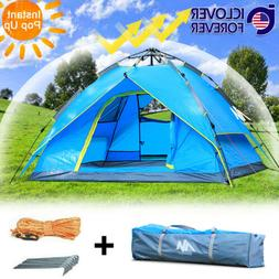 4-5 Person Waterproof Instant Pop Up Tent Family Camping Hik