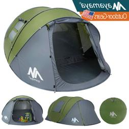 4 Person Camping Dome Tent Instant Pop Up Waterproof Travel