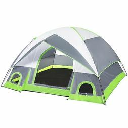 4 Person Camping Tent Family Outdoor Sleeping Dome Water Res