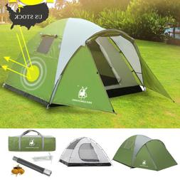 4 Person Camping Tent Waterproof Backpacking Hiking Dome Ten