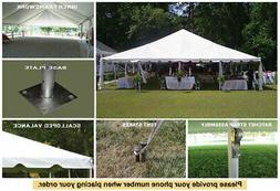 40 x 80 White Celina Tent Classic Series Frame Tent for Cate