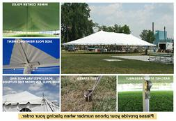 40x80 White Vinyl Classic Pole Tent for Wedding Outdoor Even