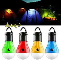 4Pack LED Portable Camping Tent Lamp Emergency Hiking Outdoo