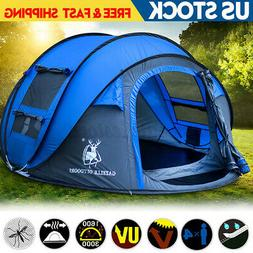 5-8 Person Waterproof  Automatic Instant Open Shade Camping