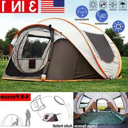 5-8 Person Waterproof Automatic Outdoor Instant Popup Tent S