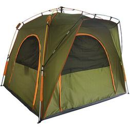 Qwest 6 Person Instant Easy Pop Up Camping Tent, 6' X-Large