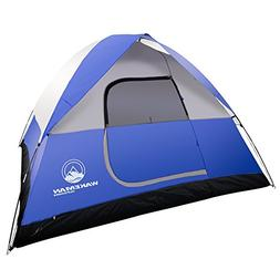 6-Person Tent, Water Resistant Dome Tent for Camping With Re
