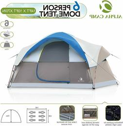 ALPHA CAMP 8 Person Dome Tent for Camping Easy Setup Tent wi