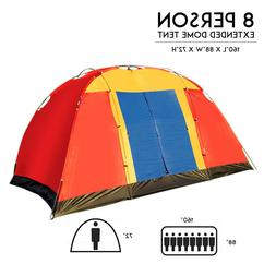 Portable Family Large Tent for 1-2-3-4-5-6-7 - 8 Person Trav