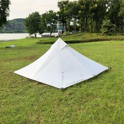 Backpacking Pyramid Tent 2 Person Hiking Camping Lightweight