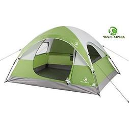 Backpacking Tents 3 Person For Camping - 8' X 7' Green