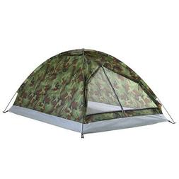 TOMSHOO Camping Tent For 2 Person Single Layer Outdoor Porta