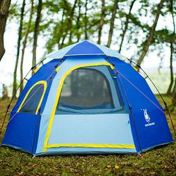 Instant Family Pop Up Tent 3-5 Person Waterproof Backpack Ou