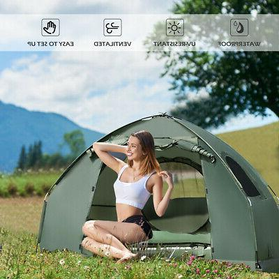 1-Person Compact Portable Pop-Up Tent/Camping w/ Mattress