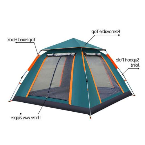 3-4 Automatic Cabin Camping Hiking Outdoor Sun