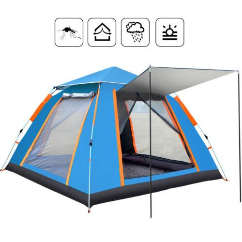 3-4 Cabin Camping Hiking Tent Outdoor Sun Shelter