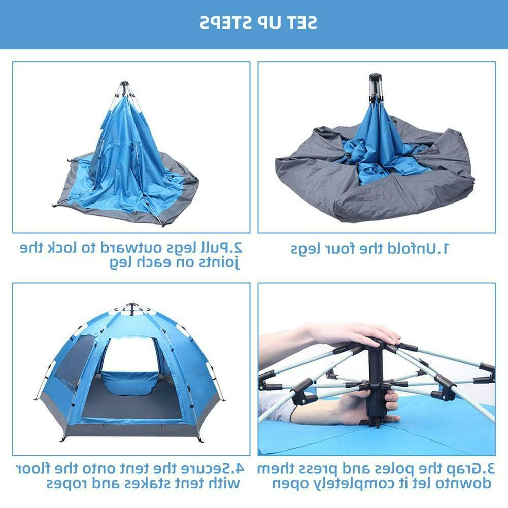 3-4 Person Pop-Up Double Layer