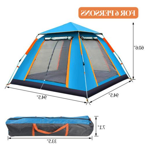 4-6 Camping Tent Waterproof Canopy
