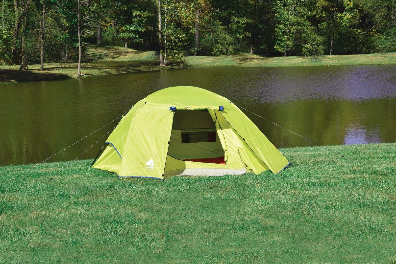 Ozark Trail 4 Person Outdoor Camping Tent with Vestibules