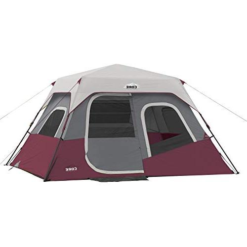 CORE 6 Person Instant Cabin Tent - 11' x 9' - Red