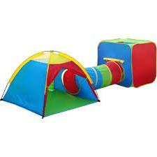 GigaTent Play Tent and Tunnel One Square Cubby-One Dome