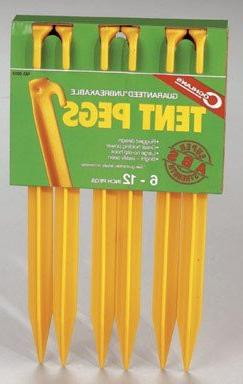 Coghlan's ABS Tent Peg, 12 inches, 6 Pack