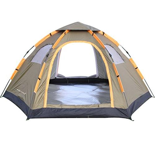 Wnnideo Automatic Instant Pop Up Tent Outdoor 4-6 Person Fam
