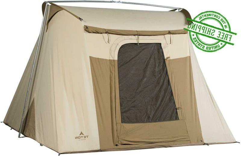 Camping Tent Backpacking Person Brown Canvas A